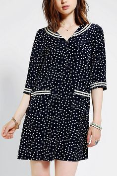Dear Creatures Porter Polka Dot Dress #urbanoutfitters