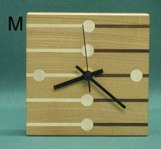 stripe clock   Square Stripe and Spot Clocks - 5 choices