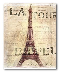 Take a look at this 'La Tour Eiffel' Canvas Wall Art by COURTSIDE MARKET on #zulily today!