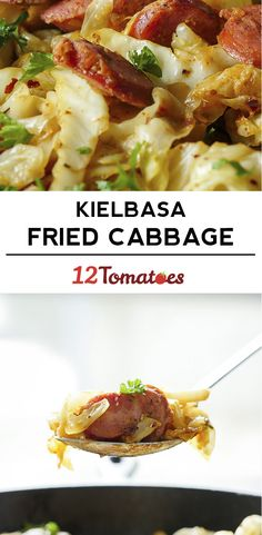 Fried Cabbage and Kielbasa Skillet