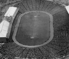 Amazing photo of East Fife vs Kilmarnock, the 1938 Scottish Cup Final at Hampden Park, with 93,000 spectators