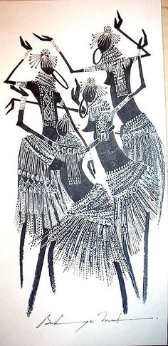 African tribal painting