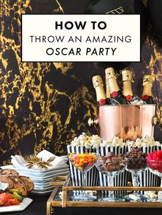 How To Throw An Amazing Oscar Party.You can find Oscar party and more on our website.How To Throw An Amazing Oscar Party. Great Gatsby Party, Movie Party, Party Time, Soirée Des Oscars, Oscar Food, Red Carpet Party, Partys, Food Themes, Party Planning