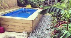 Hay bale swimming pool