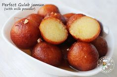 Gulab Jamun is a traditional Indian dessert. Learn how to make Delicious sweet Gulab Jamun at home. Mango Dessert Recipes, Indian Dessert Recipes, Indian Sweets, Milk Recipes, Sweet Desserts, Easy Desserts, Sweet Recipes, Indian Recipes, Indian Foods