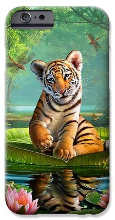 Tiger Cross Stitch Pattern - Baby Tiger Cross Stitch Pattern - Hand Embroidery - Funny Pattern - Little Tiger Digital Prints - Printable PDF Tiger Wallpaper, Animal Wallpaper, Animals And Pets, Baby Animals, Cute Animals, Animal Fun, Big Cats Art, Cat Art, Animal Paintings