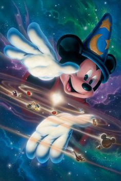 """Mickey's Universe"" by John Alvin | Disney Fine Art | Disney's Fantasia"