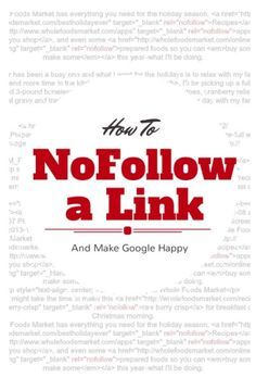 How To NoFollow A Link