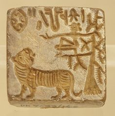 https://flic.kr/p/djf8ep   Seal -12, Harappan Civilization, C- 2700-2000 BC   Seals appear in the Indus Valley around 2600 B.C. with the rise of the cities and associated administrators. Square and rectangular seals were made from fired steatite. The soft soapstone was carved, polished, and then fired in a kiln to whiten and harden the surface. Seals made of metal are extremely rare, but copper and silver examples are known. The square seals usually have a line of script along the top and a…