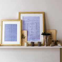 Frame letters (either your own or someone else's) as decor - so personla. Lovely.