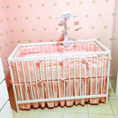 Pink baby girl bed