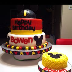 Mickey Mouse 1st birthday cake