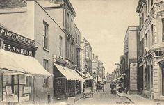 Kent, Deal High Street UK Old Pictures, Old Photos, Brewer Street, Sea Girt, Coast Guard Stations, Tackle Shop, Old Mansions, East Sussex, Places To Visit