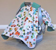 Baby Boy Carseat Canopy Baby Boy Carseat by TheFabricGalBoutique, $38.00