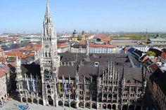 Munich (München), Germany - Neues Rathaus (with the bells!) and Marienplatz