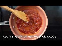 Red Palm Oil Sauce (Beans & Yams / Recipe) - Juka's Organic Co. - YouTube
