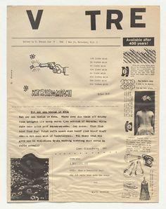 Heinz Gappmayr, Ruth Krauss, Angus Maclise, Jackson Mac Low, Robert Morris, Claes Oldenburg, Dieter Roth. V TRE. 1963