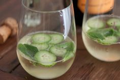 Elderflower Mint Prosecco Cocktail