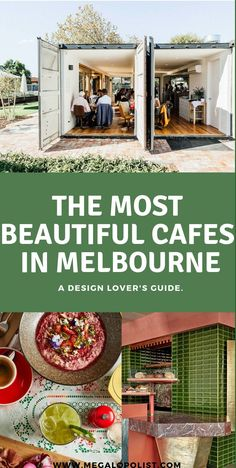 From rustic shipping containers and plant-filled warehouses to colourful open-air spots and minimalist fit-outs, Melbourne cafes are constantly outdoing themselves when it comes to design and decor. Check out our guide to some of the most beautifully desi Travel Guides, Travel Tips, Travel Destinations, Melbourne Architecture, Melbourne Cafe, Australia Travel Guide, New Zealand Travel, Sustainable Design, Foodie Travel
