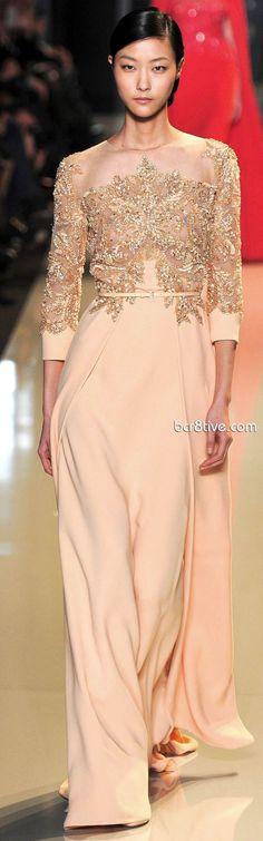 Hijab Fashion : Saab peach beige 2015