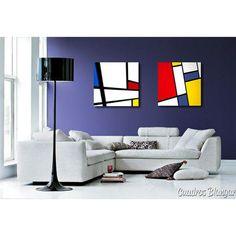 ¿cuando fue la última vez que te diste un capricho? Cuadros abstractos modernos pintados con pinturas acrílicas sobre lienzo y bastidor doble de 3,5 cm de lado. Salon Art Deco, Piet Mondrian, Modern Pop Art, Abstract Geometric Art, Hand Painted Walls, Bedroom Art, Art Deco Design, Colorful Furniture, Diy Wall Art