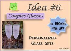 Why not make you special day even more special with a couple glass set! How To Apply, How To Make, Facebook Sign Up, Special Day, Couple, Gift Ideas, Make It Yourself, Glass, Drinkware