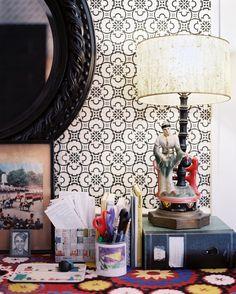 boho eclectic desk