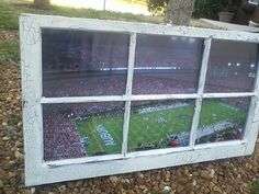 Antique window with Jordan-Hare print inside, from Etsy. How cool is this?!