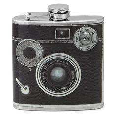 CAMERA FLASK | Stainless Steel Hip Flask | UncommonGoods