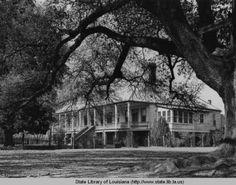 Oakland plantation home near Natchitoches Louisiana circa 1940 :: State Library of Louisiana Historic Photograph Collection
