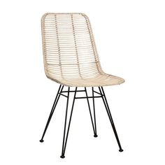 CHAIR RATTAN, OFF WHITE