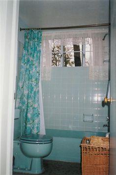 Image detail for -... Bathroom. Comfortable Nangoldin Self Portait In My Blue Bathroom