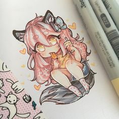 Here have some cheeb kc for ur soul, I like the summer aesthetic thing it's fun ok ;U - - - ~Marker Zane And Kawaii Chan, Zane Chan, Aphmau My Street, Aarmau Fanart, Aphmau Characters, Aphmau Memes, Kawaii Chibi, Drawing Reference Poses, Summer Aesthetic