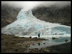 One arm of the largest glacier on continental Europe