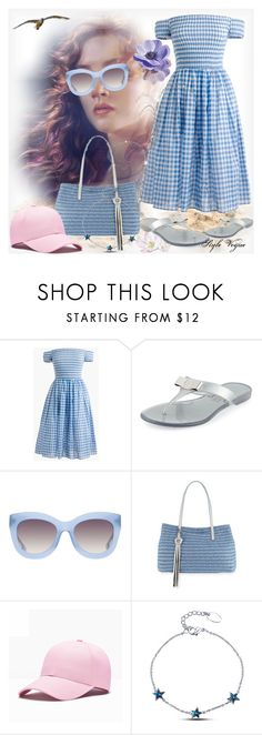 """""""Subtle charm"""" by lamipaz ❤ liked on Polyvore featuring J.Crew, Salvatore Ferragamo, Alice + Olivia and Eric Javits"""