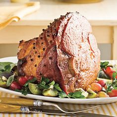 Southern Recipes Inspired by The Help / Honey-Bourbon Glazed Ham