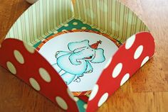 a cute DIY homemade card and envelope. Cant wait to do this for someone...I wont be using an elephant graphic though.