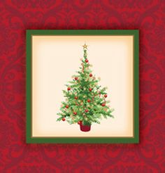 Holiday Tree Plastic Tablecloths � 54 x 102 Inch
