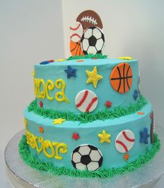 tiered sports cake - Google Search