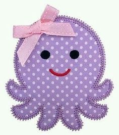 Embroidery Designs Octopus Applique Matches the Octopus Felt Stitchie Applique Templates, Applique Patterns, Applique Quilts, Quilt Patterns, Applique Designs Free, Owl Templates, Embroidery Fonts, Embroidery Applique, Machine Embroidery Designs