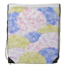 Fields Of Hydrangeas Drawstring Backpack. $17.95