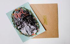 Printable Noel Christmas Photo Card by GoldenPinesPaperShop, $20.00