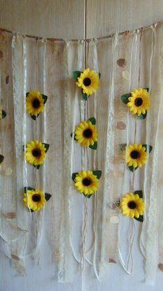 Sunflower Wedding Decor Sunflower Garland Bridal S Sunflower Nursery, Sunflower Room, Sunflower Party, Sunflower Baby Showers, Sunflower Flower, Sunflower Crafts, Sunflower Home Decor, Flower Wall Backdrop, Wall Backdrops