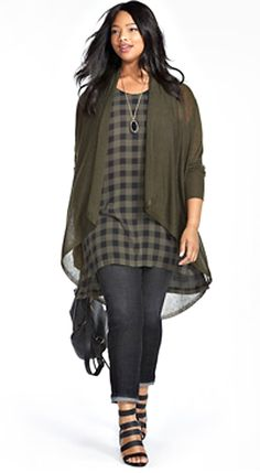 Fashion for curvy women - I could seriously dupe this with some stuff I already have!