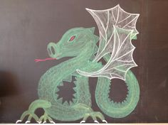 Second Grade Michaelmas Play Chalkboard Drawings, Chalk Drawings, Autumn Crafts, Second Grade, Cincinnati, How To Fall Asleep, Homeschool, Childhood, Dragon