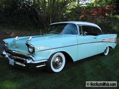 1957 Chevy Bel Air // teal and ivory....i looooved getting picked up in the loop in this thing :)