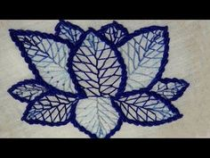 Hand Embroidery : Lazy Daisy Stitch ( Double colored thread ) For Beginners - YouTube