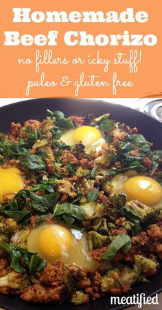 Homemade Beef Chorizo from http://meatified.com #paleo #whole30
