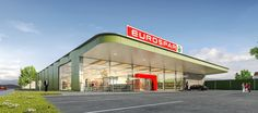 Related image Fresh Thyme, Exterior, Showroom, Outdoor Decor, Modern, Retail, Car, Image, Shops