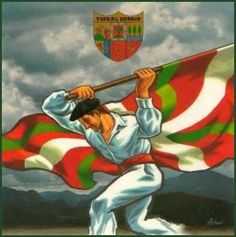 A Basque in Boise Pays Basque France, Bay Of Biscay, Asturian, Spain Culture, Guernica, Basque Country, My Heritage, Illustrations, Vintage Posters